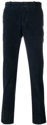 Incotex corduroy straight leg trousers