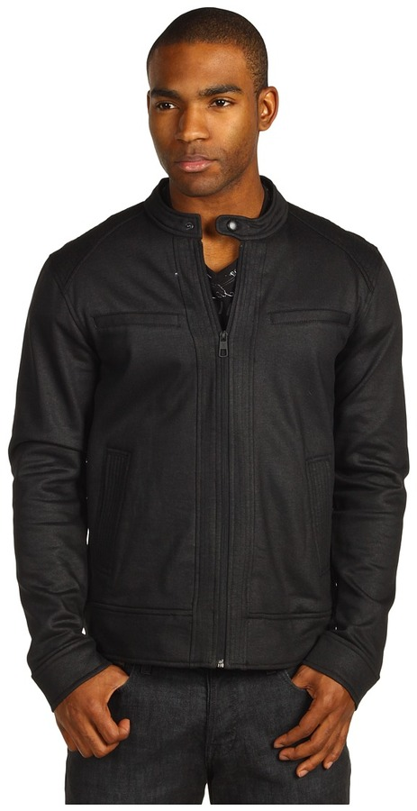 Ecko Unlimited Coated Fleece Moto Jacket (Black) - Apparel