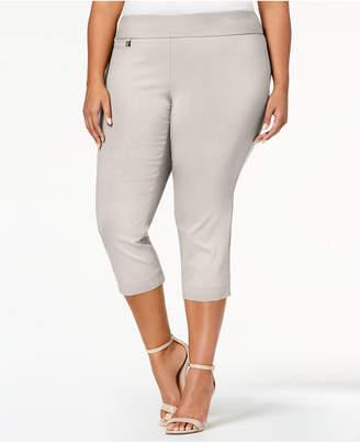 Alfani Plus Size Tummy-Control Pull-On Capri Pants, Created for Macy's