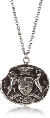 """Pyrrha talisman"""" Men's Sterling Neither Fearful Nor Wanting Necklace"""