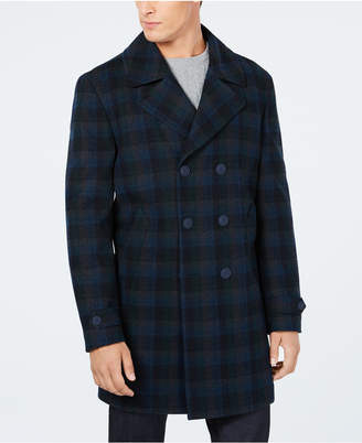 Tommy Hilfiger Men Nelly Modern-Fit Plaid Double-Breasted Overcoat