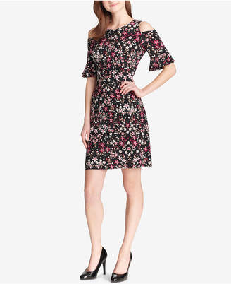 Tommy Hilfiger Floral Cold-Shoulder Dress