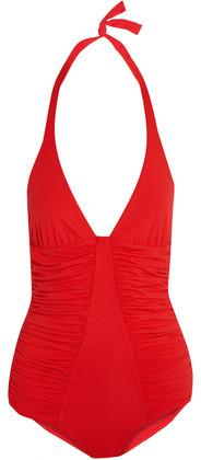 Melissa Odabash Ischia Ruched Halterneck Swimsuit