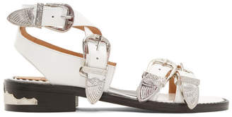 Toga Pulla White Four Buckle Western Sandals