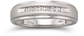 JCPenney MODERN BRIDE Mens 1/10 CT. T.W. Diamond Band 10K Gold