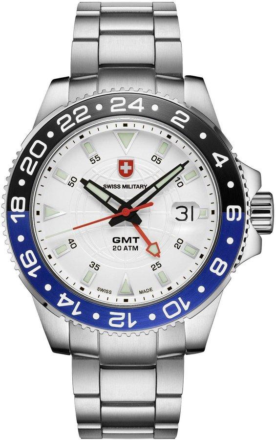 Swiss Military Men's Army 42mm Steel Bracelet & Case Swiss Quartz Watch 2770