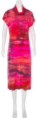 Raquel Allegra Tie-Dye Print Midi Dress