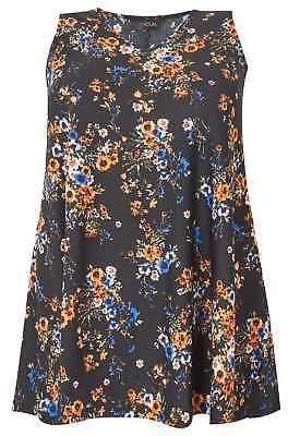 Yours Clothing Women's Plus Size Ditsy Floral Vest
