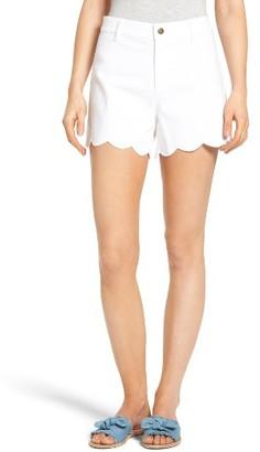 Draper James Women's Scallop Denim Shorts