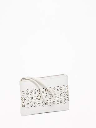 Old Navy Laser-Cut Faux-Leather Wristlet for Women