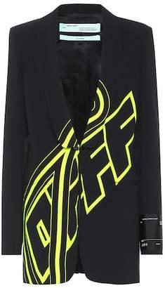 Off-White Logo crêpe blazer