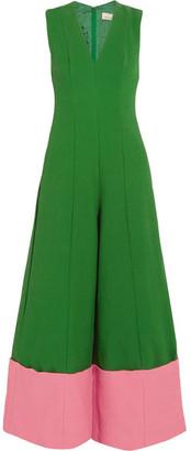 Merchant Archive - Two-tone Cloqué Jumpsuit - Green