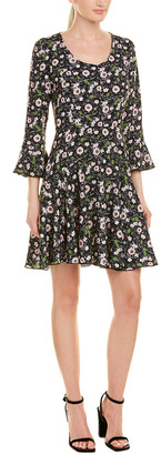 Anna Sui Floating Flowers A-Line Dress
