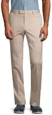 HUGO BOSS Flat-Front Stretch Pants