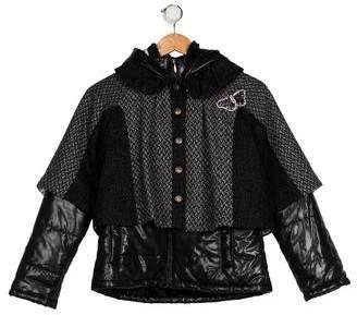 Catimini Girls' Hooded Zip-Up Coat