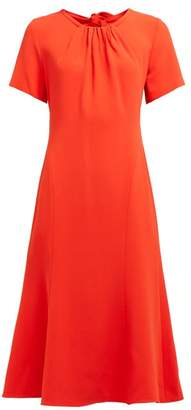 Diane von Furstenberg Rose Open Back Crepe Midi Dress - Womens - Orange