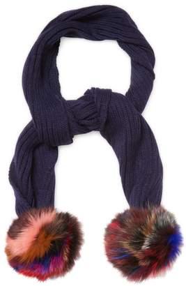 Jocelyn Women's Knitted Fox Fur Scarf