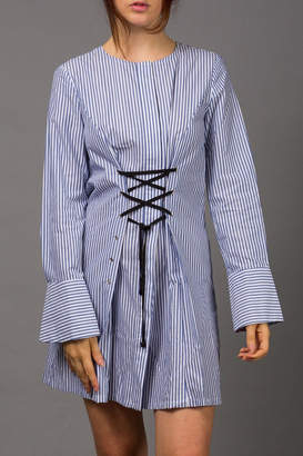 WREN & WILLA Laced-Up Dress