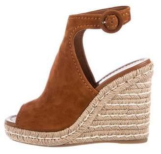 Prada Glove Espadrille Wedge Sandals