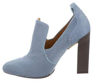 Calvin Klein Collection Ponyhair Pointed-Toe Booties