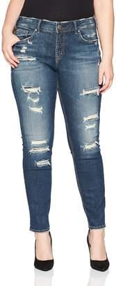 fc0efd0d6a8 Silver Jeans Co. Women s Plus Size Suki Curvy Fit Mid Rise Skinny Jeans