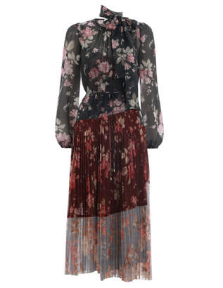 Zimmermann Unbridled Pleated Midi Dress
