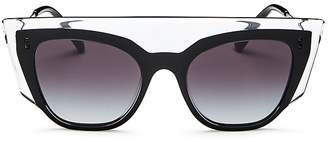 Valentino Women's Flat Top Cat Eye Sunglasses, 49mm