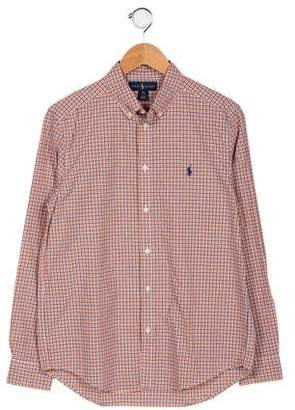 Ralph Lauren Boys' Plaid Button-Up Shirt w/ Tags