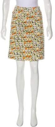 Etcetera by Edmond Chin Printed Knee-Length Skirt
