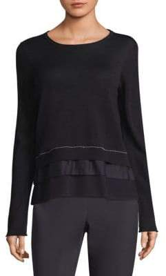 Peserico Wool-Blend Tiered Sweater