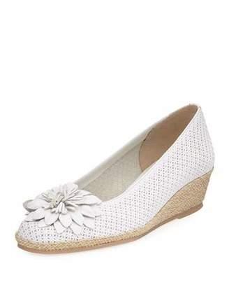 Sesto Meucci Mae Floral Wedge Espadrille, White