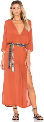 Cleobella Madera Long Kaftan With Belt in Rust $179 thestylecure.com