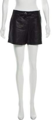 Proenza Schouler Leather High-Rise Shorts Black Leather High-Rise Shorts