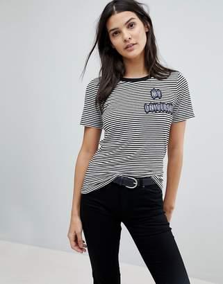 Emporio Armani My Universe Sripe Scoop T-Shirt