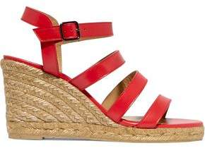 Castaner Bayna Leather Espadrille Wedge Sandals