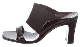 Salvatore Ferragamo Patent Leather Strap Sandals Black Patent Leather Strap Sandals