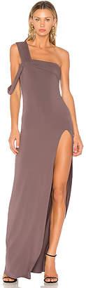 Baja East One Shoulder Maxi Dress