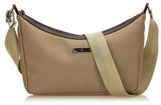 Gucci Vintage Canvas Crossbody Bag
