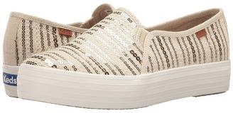 Keds - Triple Decker Sequin Stripe Women's Slip on Shoes $60 thestylecure.com