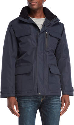 London Fog Navy Four-Pocket Field Coat