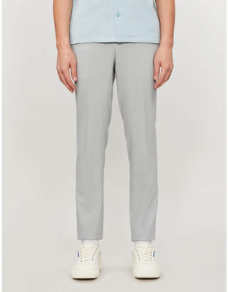 Sandro Slip-fit tapered leg stretch-wool trousers