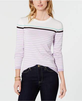 Tommy Hilfiger Cotton Striped Crewneck Sweater
