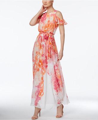 Vince Camuto Floral-Print Cold-Shoulder Maxi Dress $168 thestylecure.com