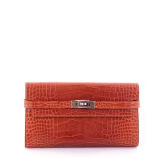 Hermes Kelly alligator wallet
