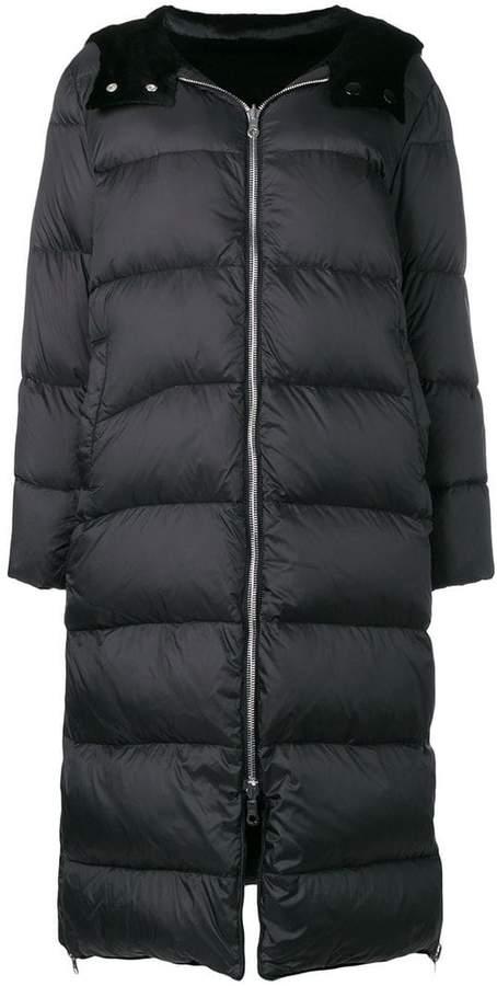 long reversible down jacket