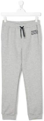 Kenzo teen logo print track pants