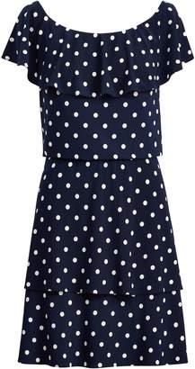 Lauren Ralph Lauren Ralph Lauren Polka-Dot Stretch Jersey Dress