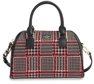 Kate Spade New York Prospect Place Small Pippa Houndstooth Crossbody Satchel - Brown $278 thestylecure.com