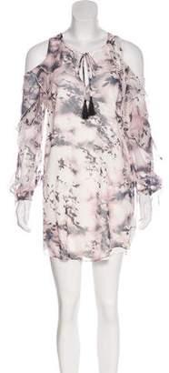 Haute Hippie Cold-Shoulder Mini Dress