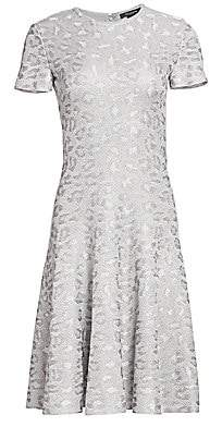 8d88687bd5ce St. John Women s Sequin Animal Print Knit Jacquard A-Line Dress - Size 0